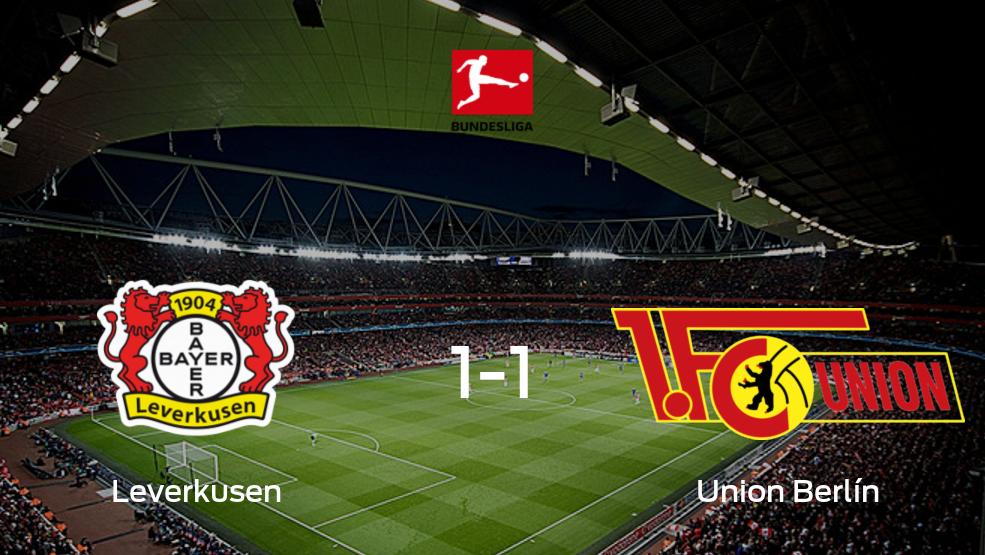 Resumen, Resultados, Goles y Tarjetas de Bayer Leverkusen 1-1 Union Berlín en la Bundesliga