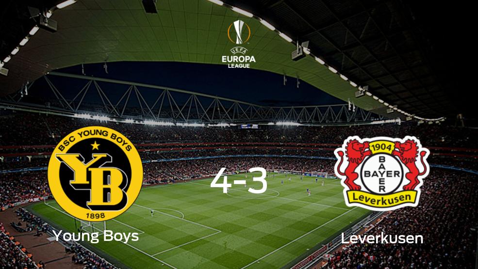 Young Boys toma ventaja en la primera eliminatoria de dieciseisavos de final tras vencer 4-3 frente a Bayer Leverkusen