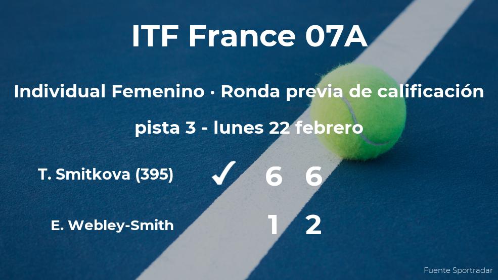 Victoria para Tereza Smitkova en la ronda previa de calificación