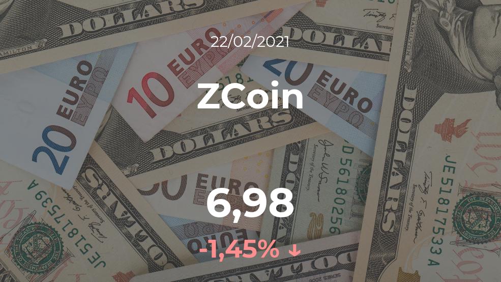 Cotización del ZCoin del 22 de febrero