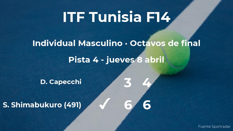 El tenista Sho Shimabukuro se clasifica para los cuartos de final del torneo de Monastir