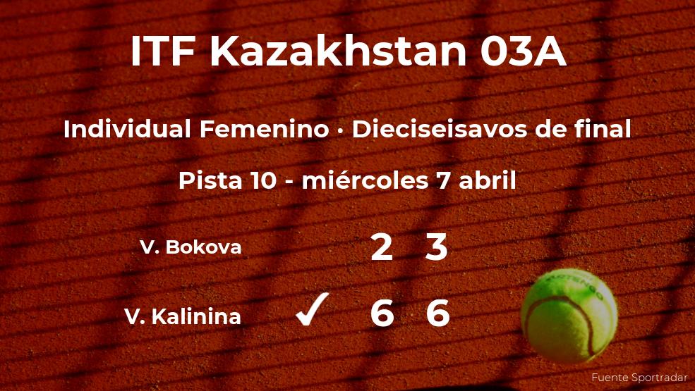 La tenista Viktoriia Kalinina, clasificada para los octavos de final del torneo de Shymkent