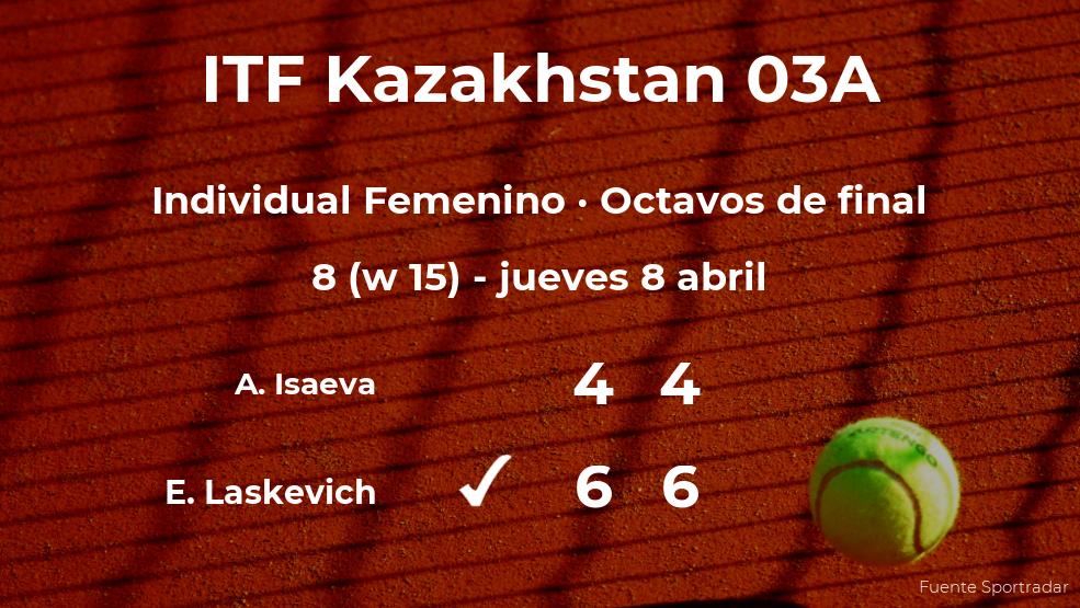 La tenista Evialina Laskevich pasa a la siguiente fase del torneo de Shymkent tras vencer en los octavos de final