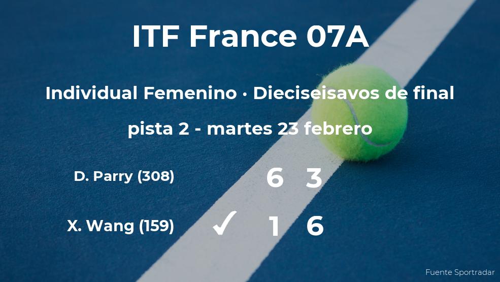 Xin Yu Wang consigue clasificarse para los octavos de final del torneo de Poitiers