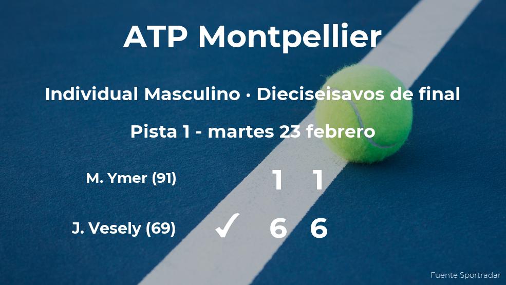 El tenista Jiri Vesely se clasifica para los octavos de final del torneo ATP 250 de Montpellier