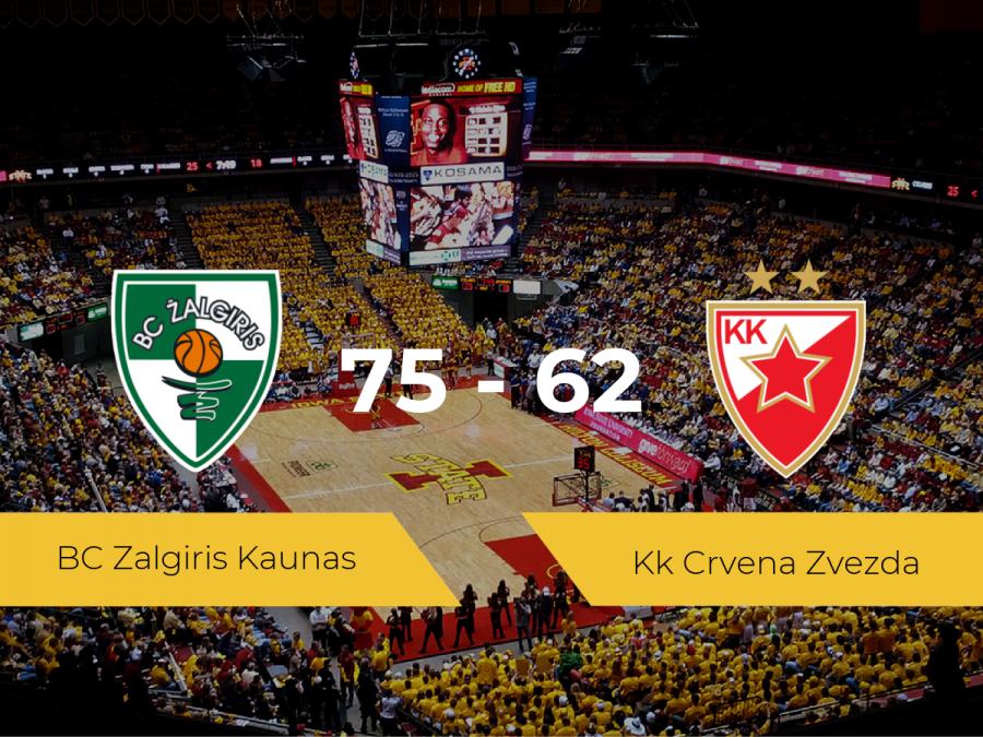 El BC Zalgiris Kaunas logra la victoria frente al Kk Crvena Zvezda por 75-62