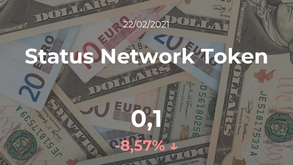 Cotización del Status Network Token del 22 de febrero