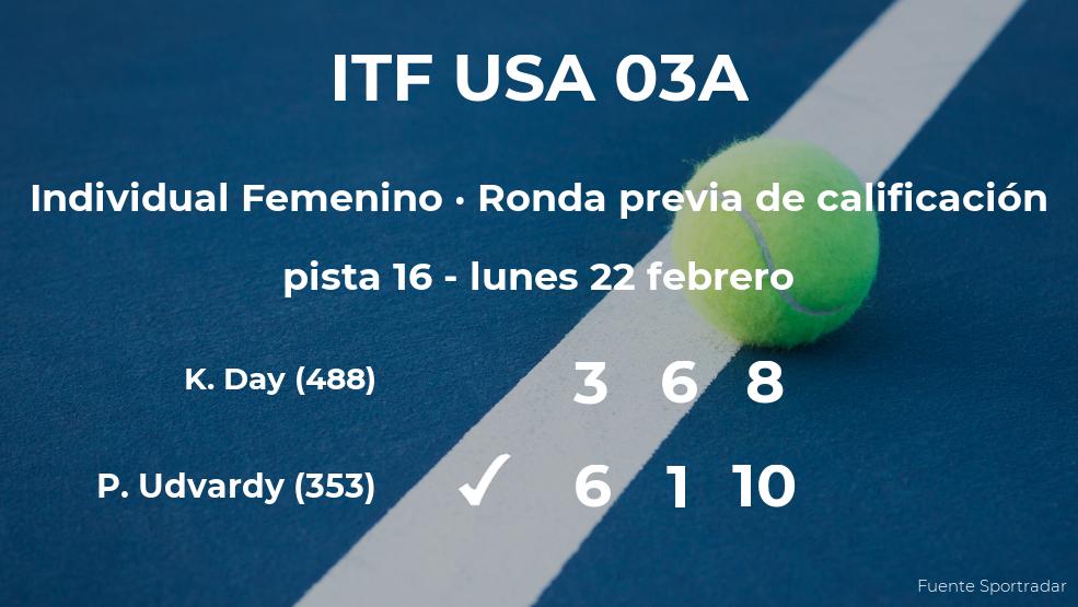 Panna Udvardy logra vencer en la ronda previa de calificación contra la tenista Kayla Day