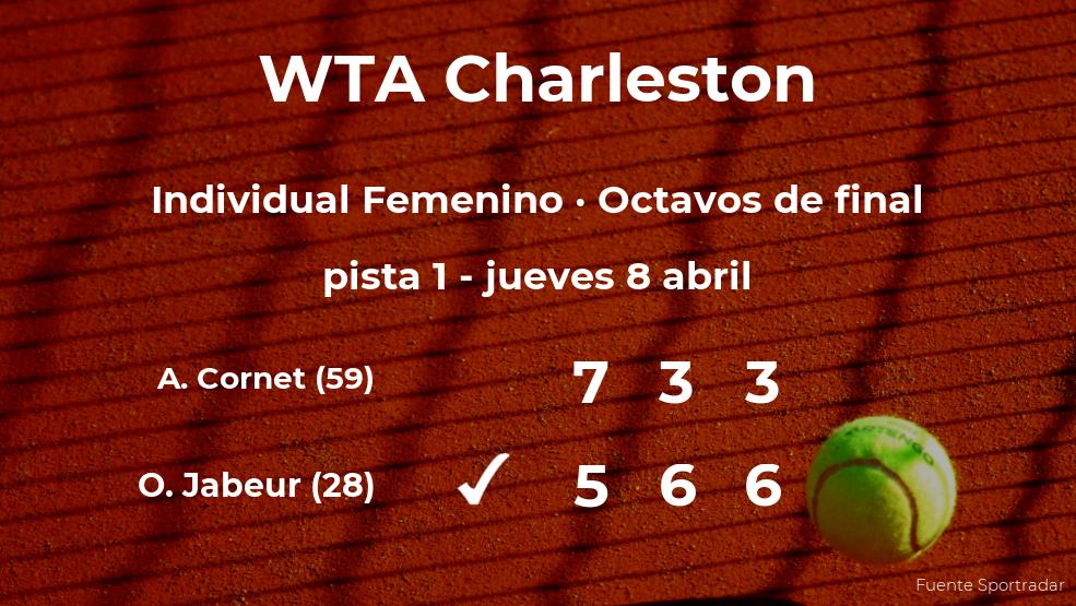 Ons Jabeur estará en los cuartos de final del torneo WTA 500 de Charleston
