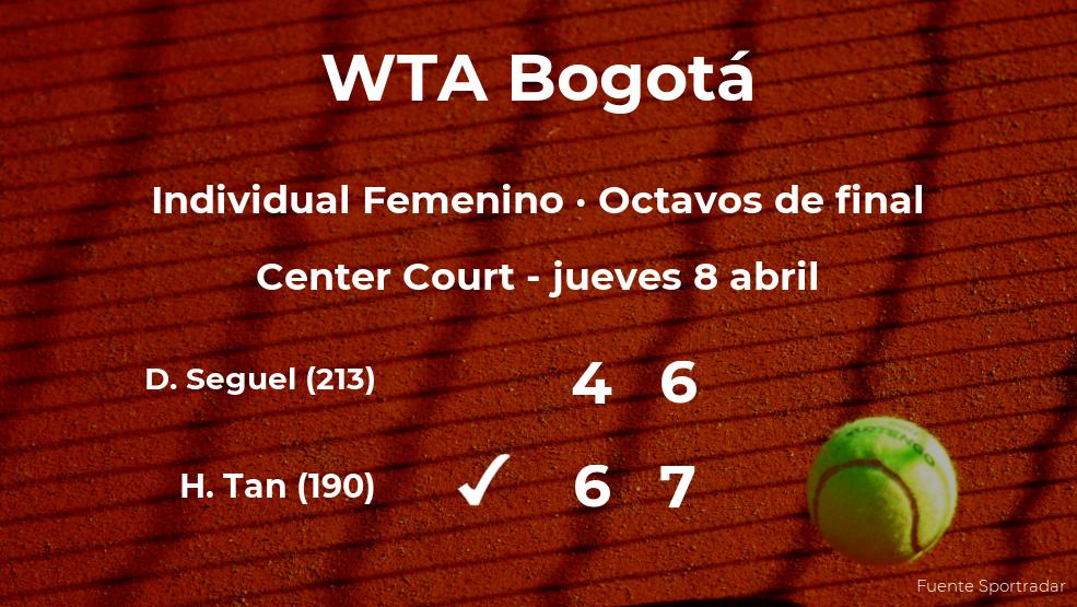 Harmony Tan gana en los octavos de final del torneo WTA 250 de Bogotá