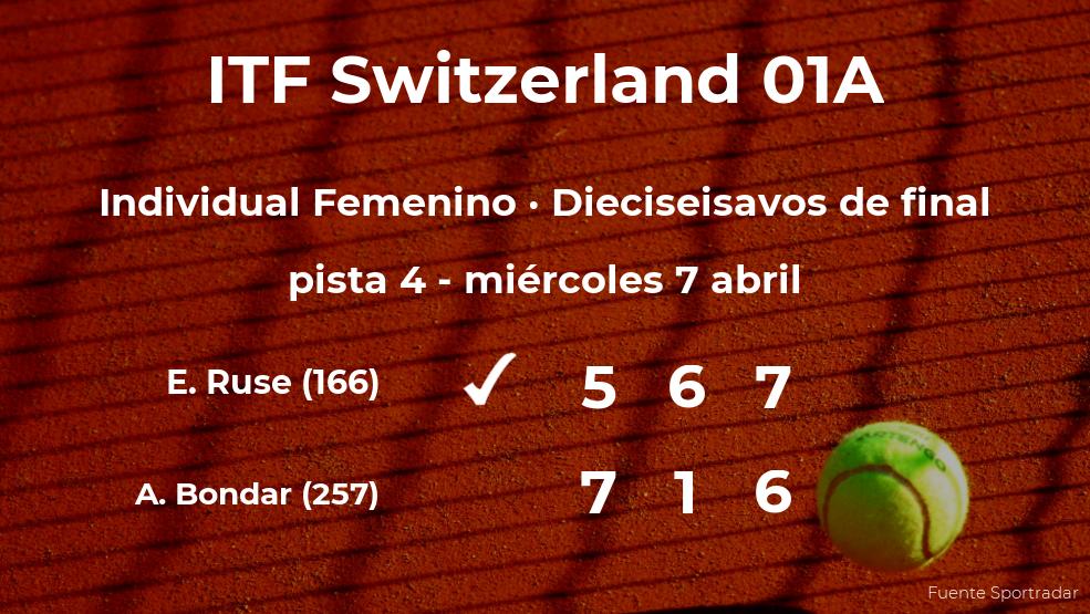 La tenista Elena Gabriela Ruse se clasifica para los octavos de final del torneo de Bellinzona