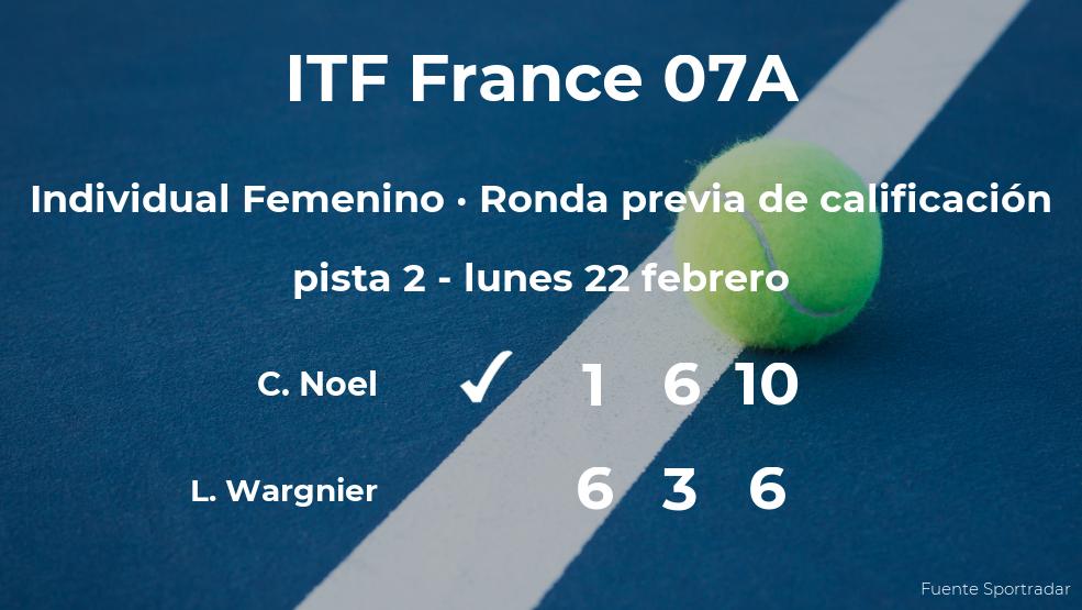 La tenista Chloe Noel consigue la plaza para la siguiente fase tras ganar en la ronda previa de calificación