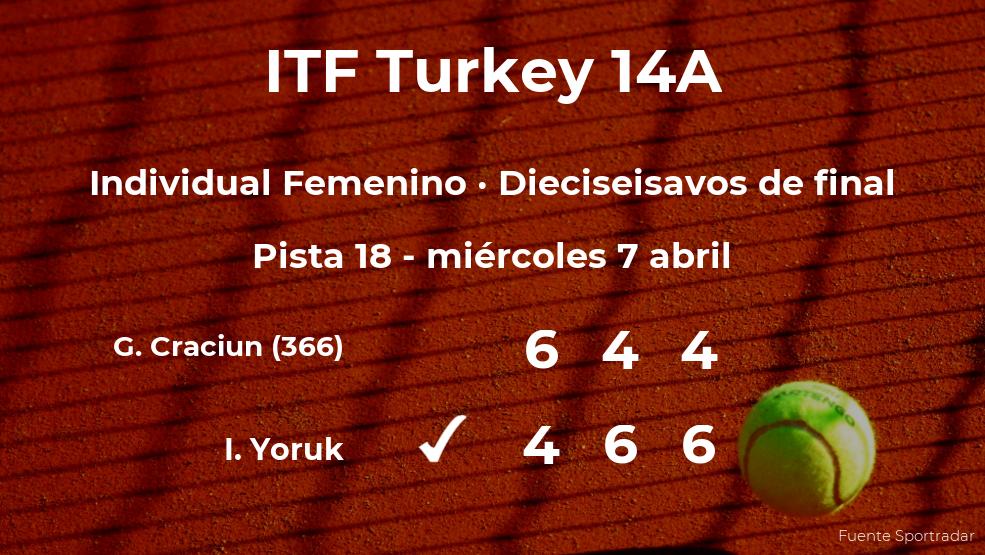 Sorpresa en el torneo de Antalya: la tenista Georgia Andreea Craciun, eliminada tras perder en los dieciseisavos de final