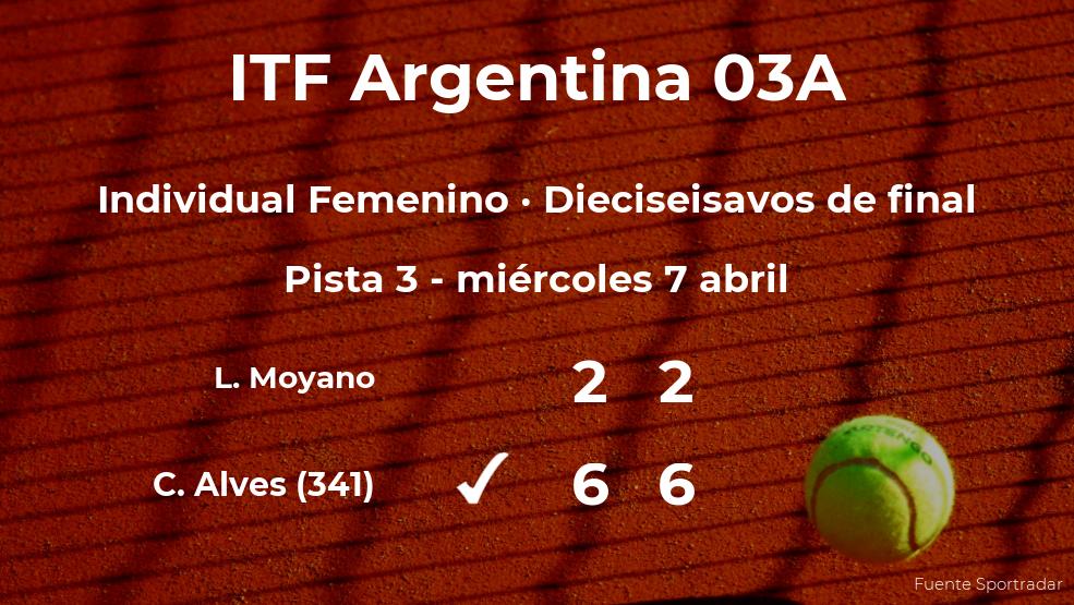 Carolina Alves gana en los dieciseisavos de final del torneo de Córdoba