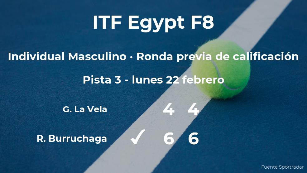 El tenista Roman Andres Burruchaga vence en la ronda previa de calificación del torneo de Sharm El Sheikh