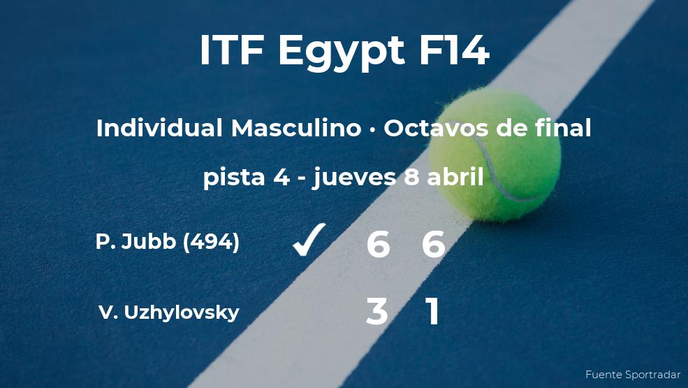 El tenista Paul Jubb consigue clasificarse para los cuartos de final a costa del tenista Vladimir Uzhylovsky