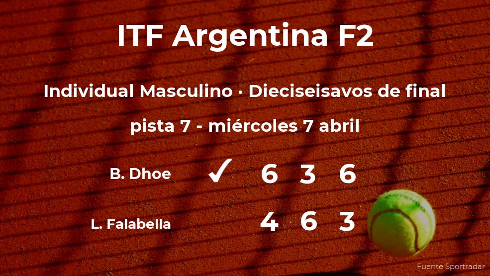 El tenista Benjamin Dhoe consigue clasificarse para los octavos de final del torneo de Córdoba