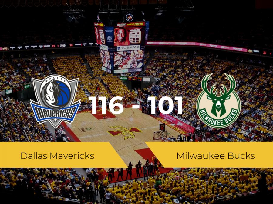 Dallas Mavericks gana a Milwaukee Bucks (116-101)