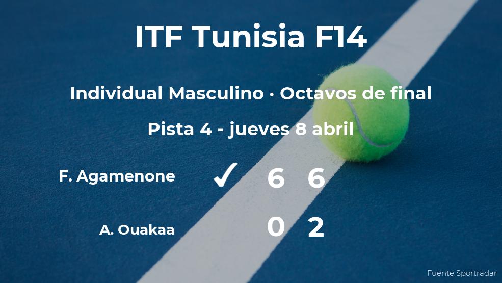 Franco Agamenone le quita la plaza de los cuartos de final al tenista Aziz Ouakaa