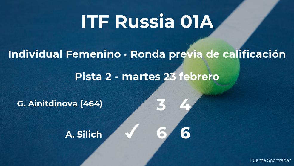 Alina Silich pasa de ronda del torneo de Moscú