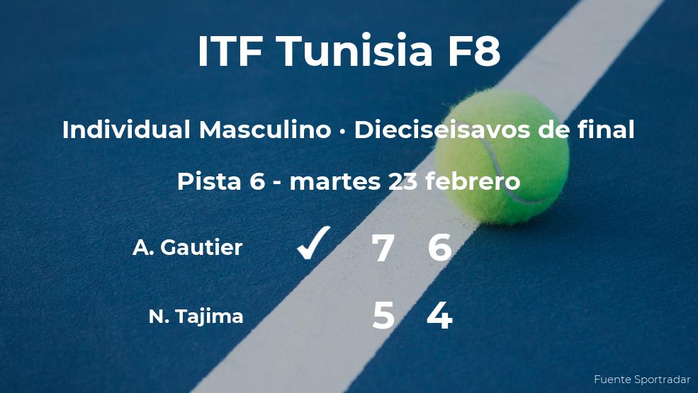 El tenista Alexis Gautier gana en los dieciseisavos de final del torneo de Monastir