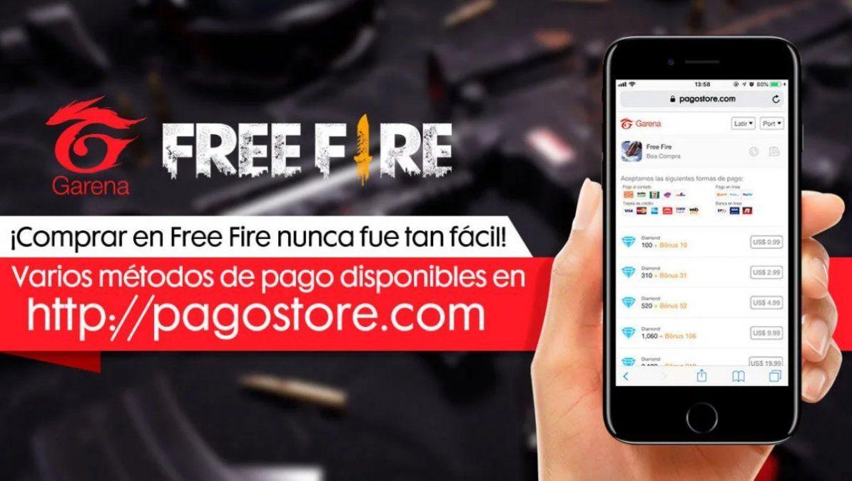 Con el Pagostore puedes comprar varios objetos para Free Fire. | Foto: ign.com
