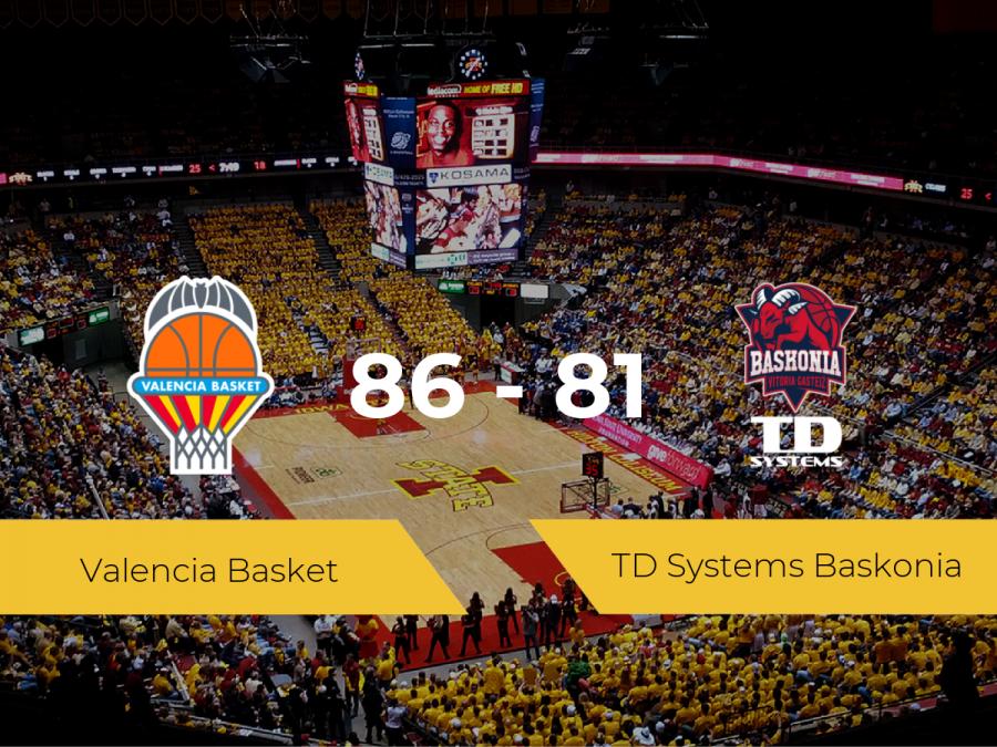 El Valencia Basket se hace con la victoria contra el TD Systems Baskonia por 86-81