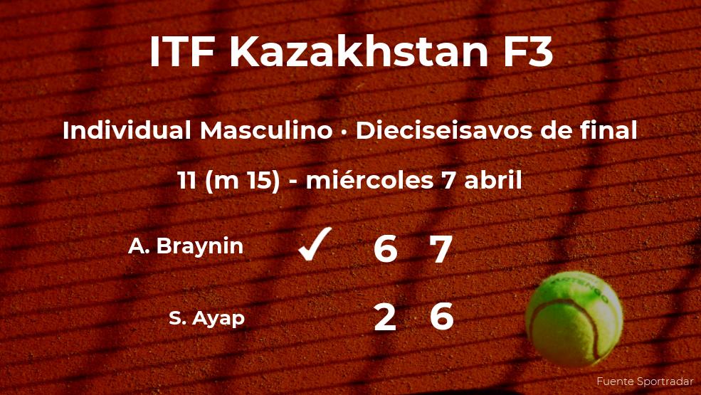 Aleksandr Braynin se clasifica para los octavos de final del torneo de Shymkent