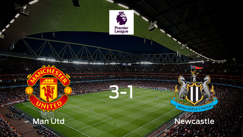 Manchester United gana 3-1 en casa a Newcastle United