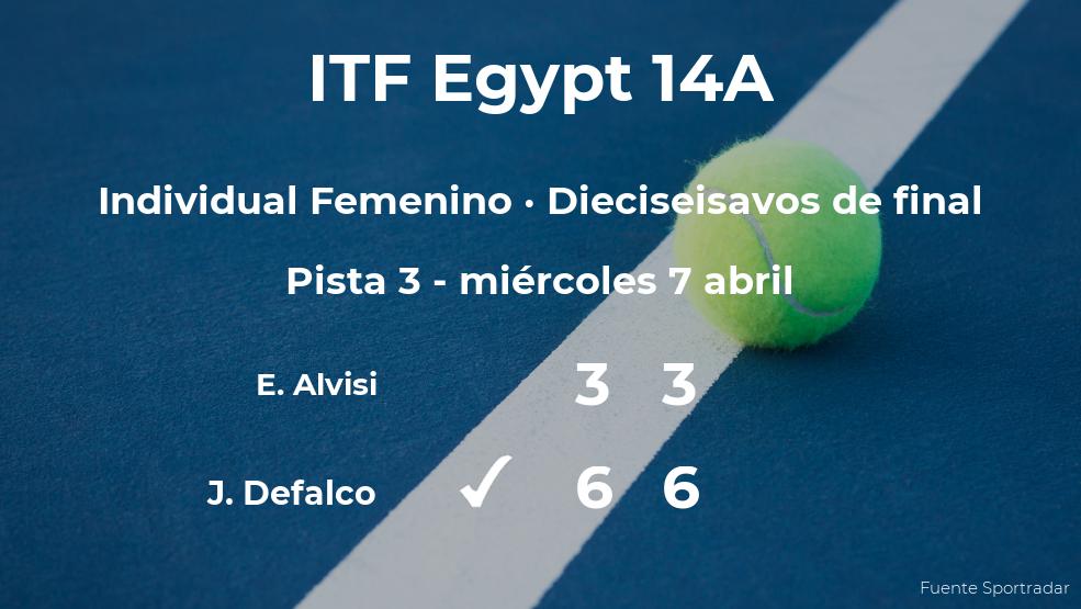 Jenna Defalco estará en los octavos de final del torneo de Sharm El Sheikh