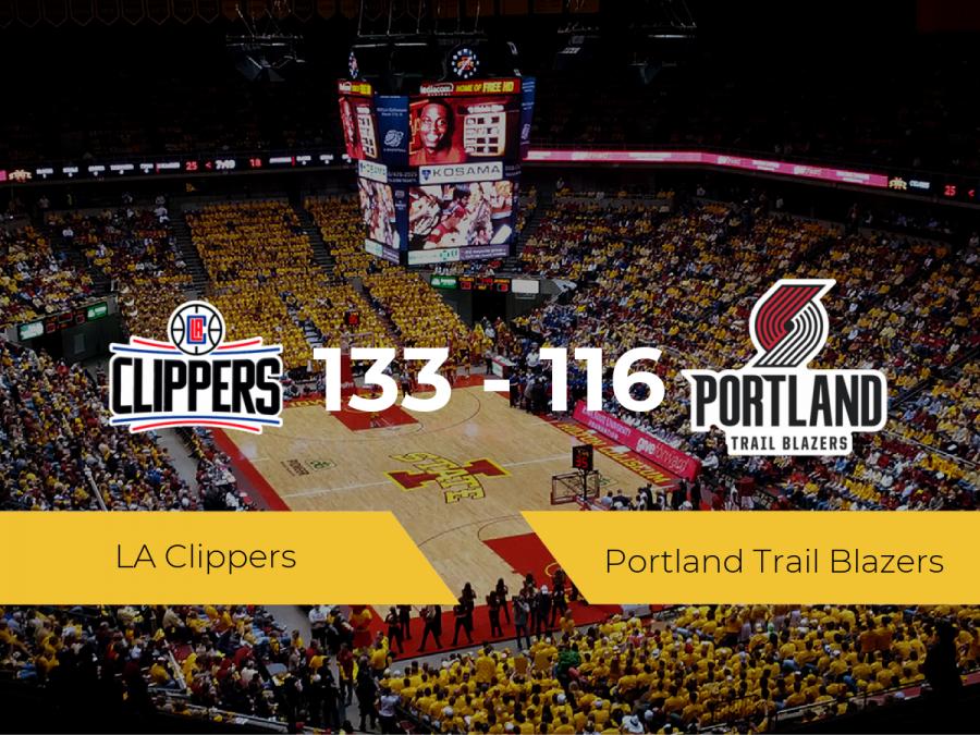 Victoria de LA Clippers ante Portland Trail Blazers por 133-116