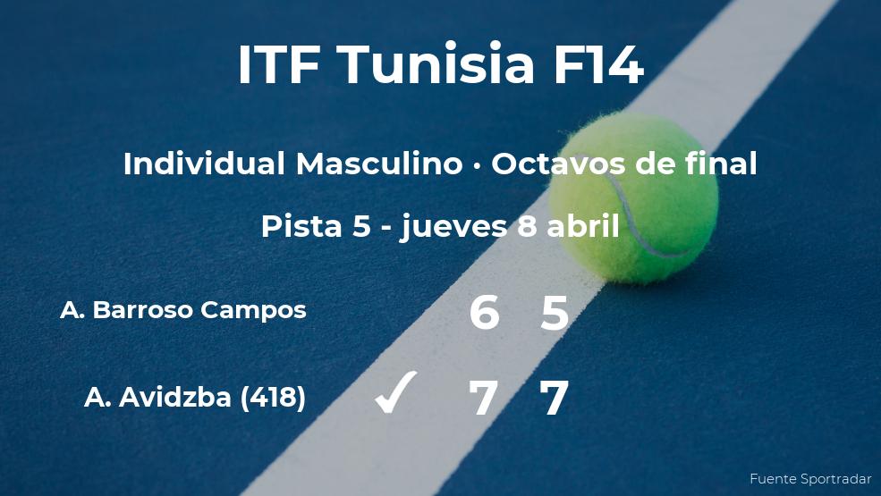 El tenista Alberto Barroso Campos, eliminado en los octavos de final del torneo de Monastir