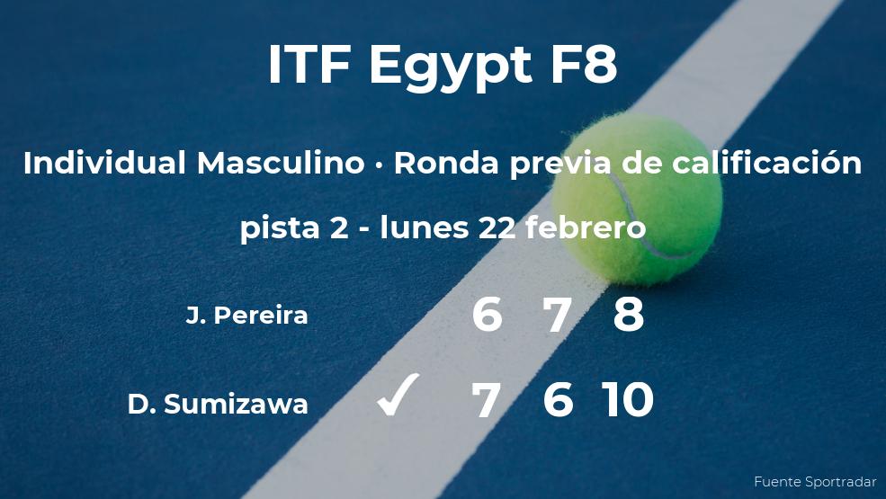 Daisuke Sumizawa consigue vencer en la ronda previa de calificación a costa del tenista Jose Pereira