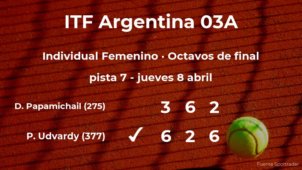 Panna Udvardy logra clasificarse para los cuartos de final a costa de la tenista Despina Papamichail