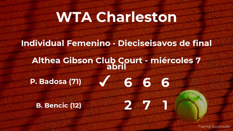 Paula Badosa pasa a la próxima fase del torneo WTA 500 de Charleston tras vencer en los dieciseisavos de final