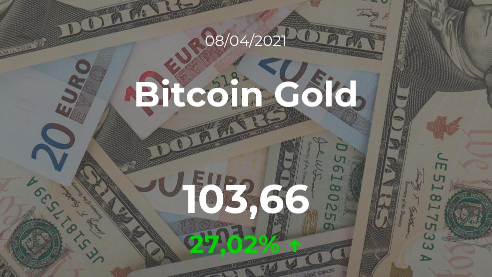 Cotización del Bitcoin Gold del 8 de abril