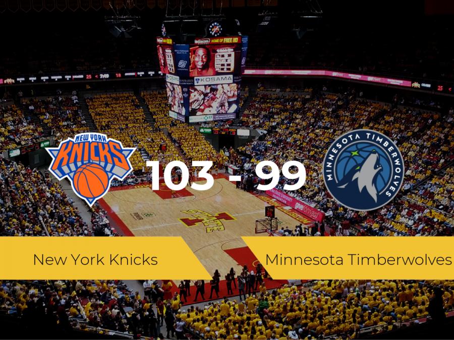 New York Knicks vence a Minnesota Timberwolves (103-99)