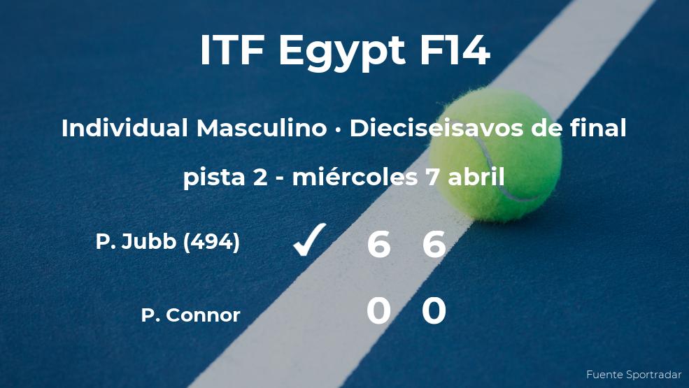 El tenista Paul Jubb pasa a los octavos de final del torneo de Sharm El Sheikh