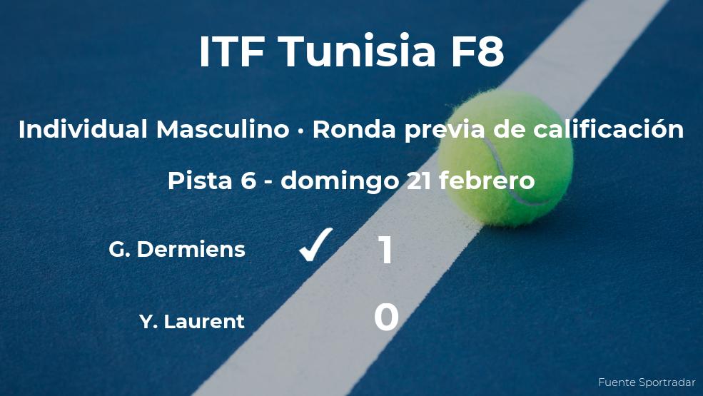 El tenista Guillaume Dermiens logra ganar en la ronda previa de calificación contra el tenista Yanais Laurent