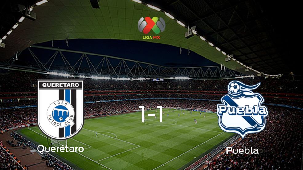 Reparto de puntos en el Corregidora de Queretaro: Querétaro1-1 Puebla