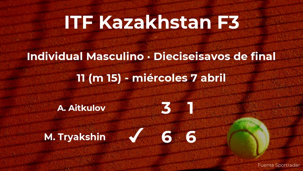 El tenista Mark Tryakshin se clasifica para los octavos de final del torneo de Shymkent