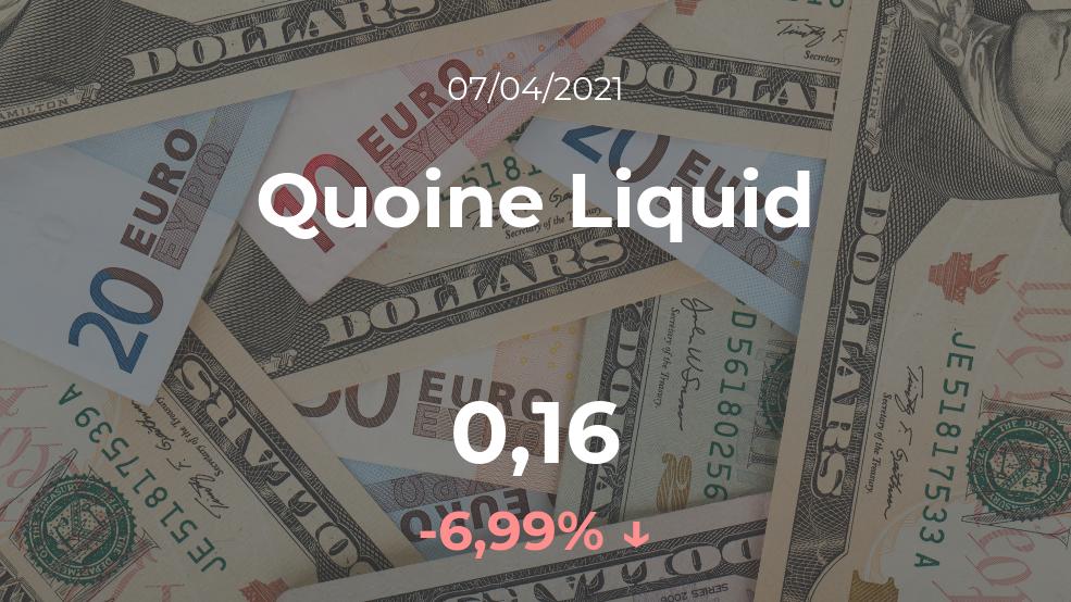 Cotización del Quoine Liquid del 7 de abril