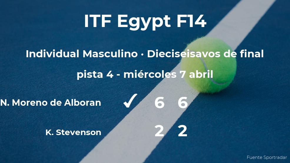 El tenista Nicolas Moreno de Alboran le quita la plaza de los octavos de final a Kelsey Stevenson