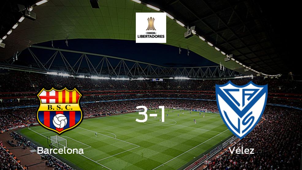 Barcelona SC - Vélez Sarsfield: Resumen, Resultados, Goles, Tarjetas del encuentro de la Copa Libertadores