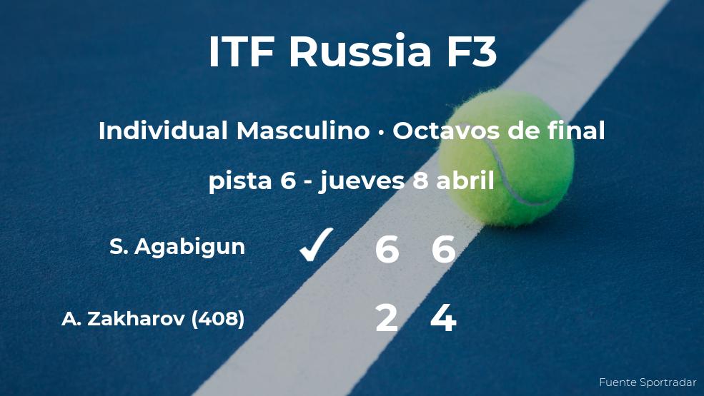 Inesperada victoria de Sarp Agabigun en los octavos de final del torneo ITF Russia F3