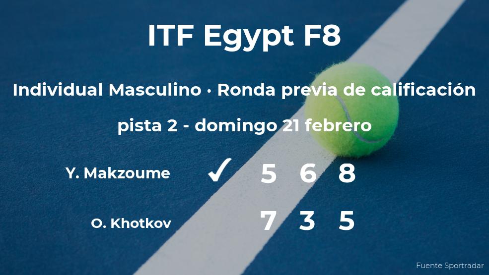 El tenista Yacoub Makzoume gana en la ronda previa de calificación del torneo de Sharm El Sheikh