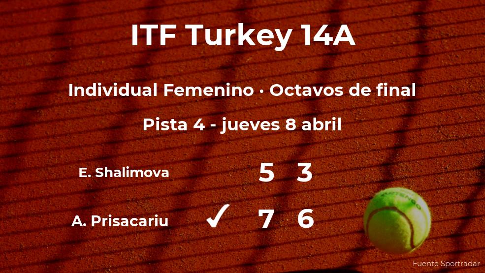 La tenista Andreea Prisacariu estará en los cuartos de final del torneo de Antalya