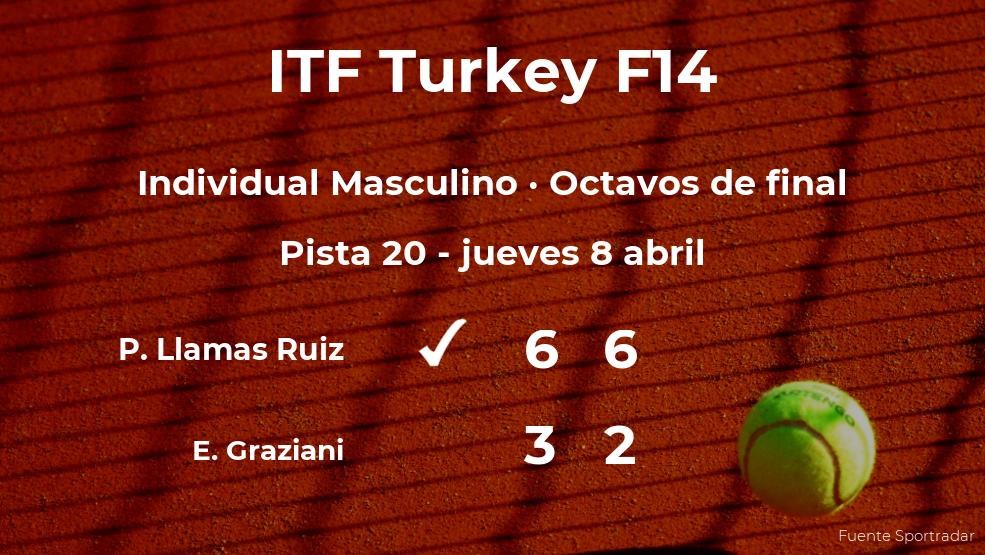 Pablo Llamas Ruiz estará en los cuartos de final del torneo de Antalya