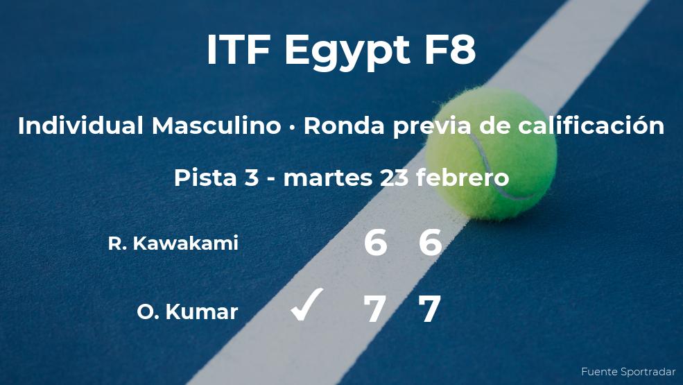 El tenista Omni Kumar consigue la plaza para la siguiente fase tras vencer en la ronda previa de calificación