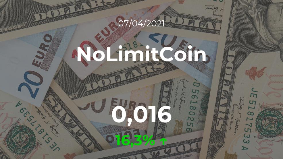 Cotización del NoLimitCoin del 7 de abril